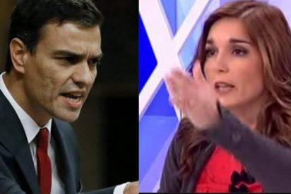 La ex militante socialista Martu Garrote, y un indignado Pedro Sánchez, a pedradas en Twitter