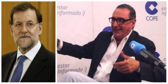 """Carlos Herrera: """"A poco que Rajoy siga poniendo cara de Registrador de la Propiedad la viabilidad de la gilipollez del referéndum es limitada"""""""