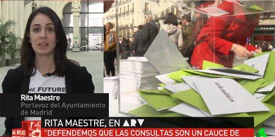 Rita Maestre ahora 'asalta' parques: exultante por el 0,1% de los madrileños que le quita a uno el nombre del Rey