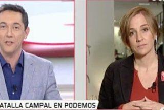 """Javier Ruiz hace sangre de Tania, cada vez más apestada en Podemos: """"¡La polémica la montáis vosotros!"""""""
