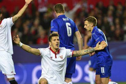 Sevilla se impone por la mínima al Leicester 2-1 en octavos de 'Champions'