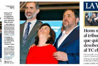 Soraya baila el 'La la land' con el golpista Junqueras mientras el bufón de Mas se chulea en el Supremo