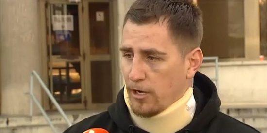 """[VÍDEO] Así embiste un guardia civil en la plaza contra un antitaurino: """"Te voy a reventar la cabeza, hijo de puta"""""""