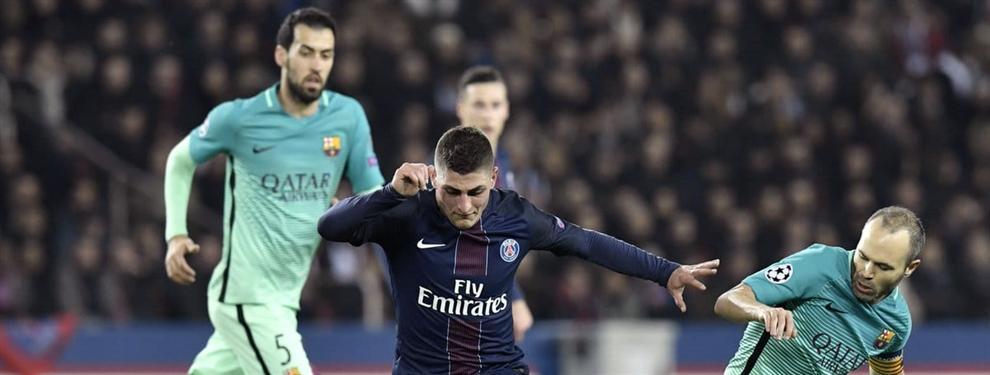 Todos los detalles de la reunión secreta entre el Barça y Marco Verratti