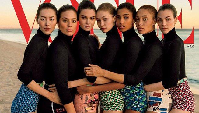 La portada de Vogue que levanta ampollas por usar Photoshop para esconder las curvas de sus modelos
