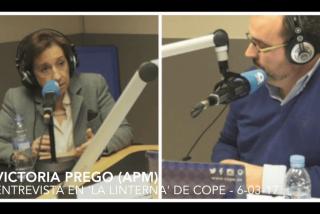 """Victoria Prego (APM) : """"Las amenazas de Podemos son sistemáticas"""""""