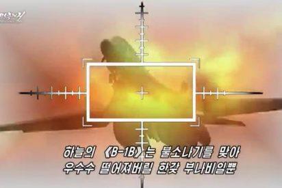 El infernal vídeo donde Corea del Norte hace añicos los portaaviones y bombarderos de Estados Unidos