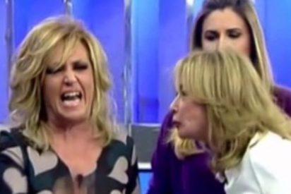 'Sálvame': la 'bocasucia' Mila Ximénez llama 'chupaculos' a Lydia Lozano en pleno directo