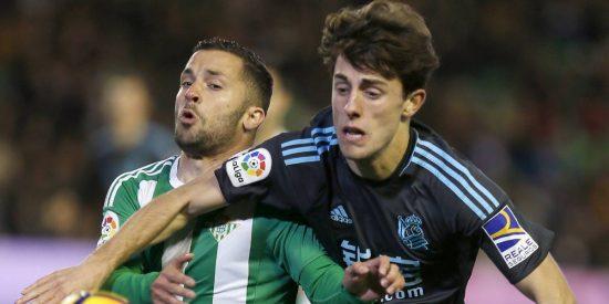 Liga: Xabi Prieto, con un doblete al Betis, acuesta a la Real Sociedad en Champions