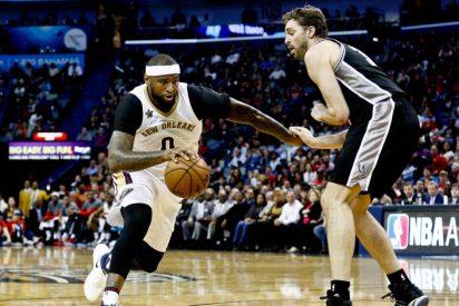 Pau Gasol y los Spurs siguen en racha tras vencer en la prórroga a los Pelicans