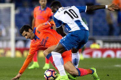 El Espanyol gana a Las Palmas en un partido de locos (4-3)
