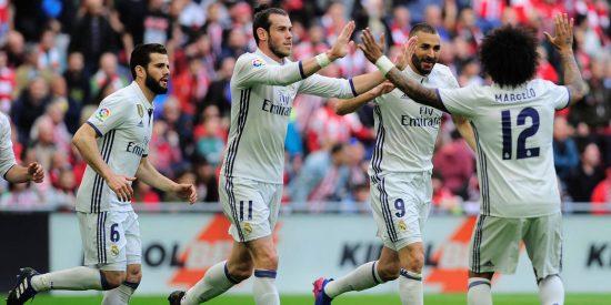 El Real Madrid doblega al Athletic de Bilbao y conserva el liderato de la Liga (1-2)