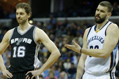 Marc 'Memphis Grizzlies' se impone a Pau 'San Antonio Spurs' en el duelo de los Gasol'