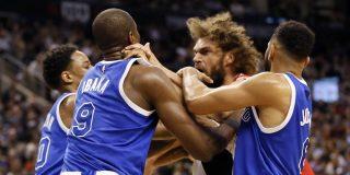 Tremendo cruce de cables de Ibaka en la NBA: ¡a puñetazo limpio!