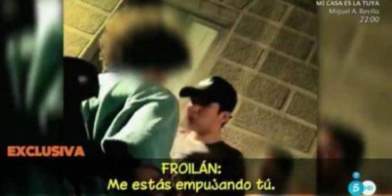 "[VÍDEO] La chulesca pelea de Froilán a la salida de una discoteca madrileña: ""¡Pégame chiquitín!"""