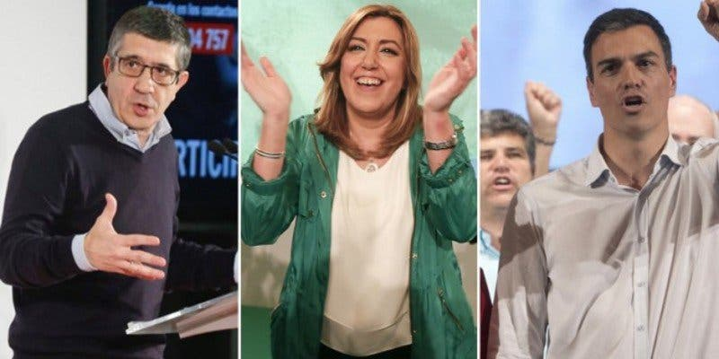 PSOE: tres actores para el drama de los socialistas