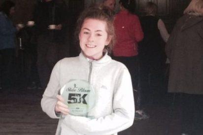 La chica que sufre 16 ataques epilépticos al día y compite en maratones
