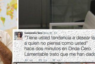 """La cobarde tuitera de Carrero se refugia en Twitter para quejarse """"del lamentable trato"""" de Carlos Alsina en una entrevista"""