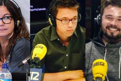 Angels Barceló 'pierde los nervios' con Iñigo Errejón y Gabriel Rufián por jugar al ratón y al gato con los oyentes de la SER