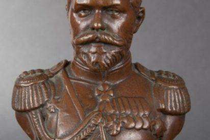 """""""Exudación milagrosa"""" del busto del zar Nicolás II"""