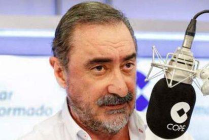 """Carlos Herrera: """"Los tipos de Podemos duermen la borrachera cuando La 2 de TVE emite las misas"""""""