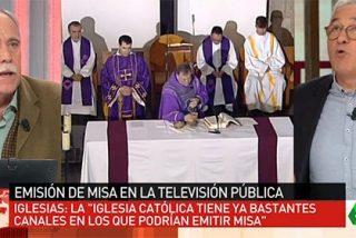 """Pérez Henares zarandea a Sardá por ser """"un cobarde"""" y no decir que prohibiría la Misa en TVE"""