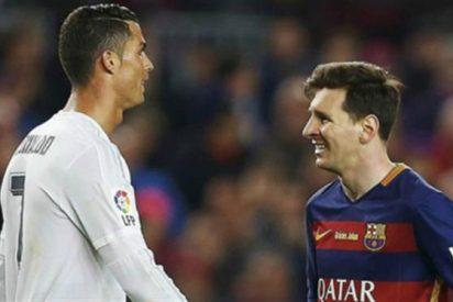 Cristiano Ronaldo sonríe por la sanción de la FIFA hacia Messi