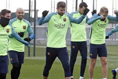 El jugador con con unos kilos de más al que tapa la plantilla del Barça