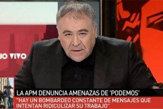 Ferreras huele sangre en Podemos por intimidar al periodismo y pide intransigencia con ellos