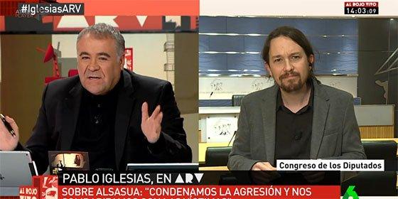 """'Zasca' de Ferreras a Iglesias: """"Lo de Alsasua no fue una bronca por una copa"""""""