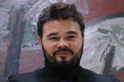 """El rufián de Gabriel Rufián responde con insultos a la manifestación en Barcelona contra el """"golpe separatista"""""""
