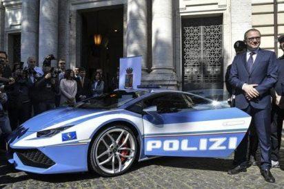 La policía italiana patrullará en este deslumbrante Lamborghini