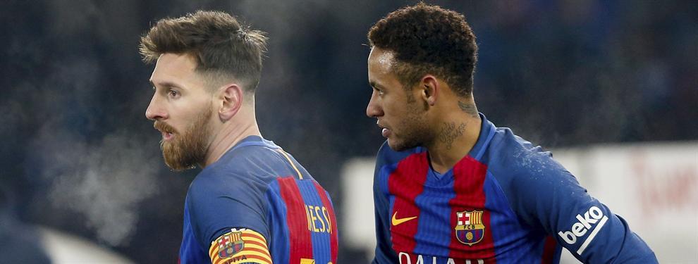 La última tomadura de pelo de Neymar en un entrenamiento del Barça