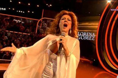 Lorena Gómez se marca un Sabrina en la final de 'Tu cara me suena' y saca a pasear una teta