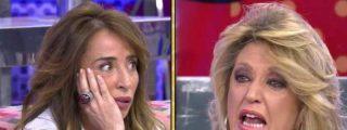 'Sálvame': Lydia Lozano huye llorando del plató de Telecinco tras ser apaleada por María Patiño