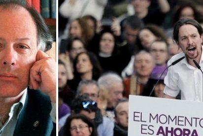 Javier Marías sacude una tunda de sopapos a Pablo Iglesias y los militantes más fanáticos de Podemos por forofos