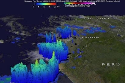 La NASA calcula que 'El Niño Costero' deja hasta 137 mm de lluvia por hora