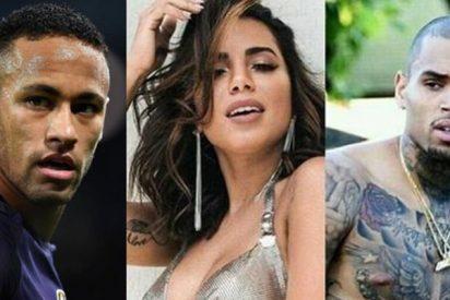 Pique bestial entre Neymar y Chris Brown en las redes sociales por Bruna Marquezine