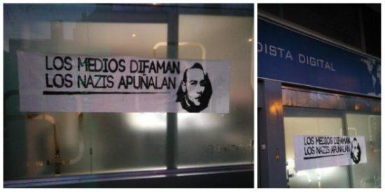 """Los podemitas atacan a Periodista Digital con nocturnidad y alevosía: """"Los medios difaman, los nazis apuñalan"""""""