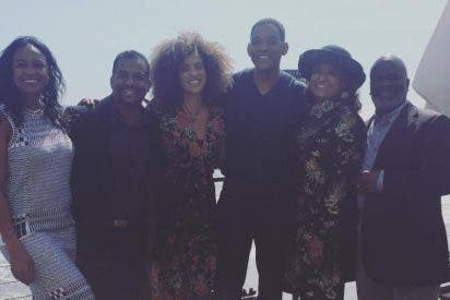 Emotivo reencuentro de Will Smith con el reparto de 'El príncipe de Bel Air'