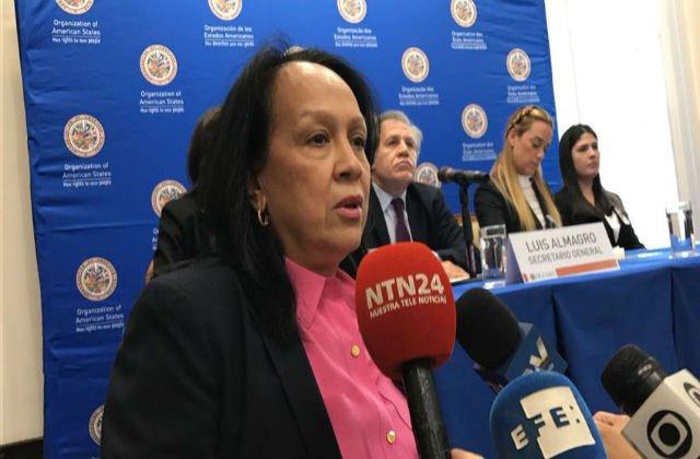 Así sabotea la embajadora venezolana en la OEA una rueda de prensa de Almagro, Tintori y Ceballos