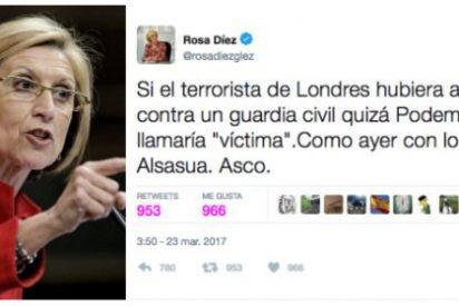 Estacazo de Rosa Díez al asqueroso apoyo de Podemos a los agresores de Alsasua