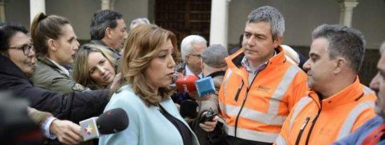 Susana Díaz mima a los estibadores y acepta sus privilegios para posicionarse en las primarias del PSOE