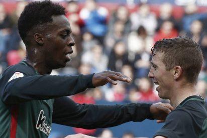 El Athletic Club sufre para ganar (1-2) a Osasuna y la Real empata (1-1) ante el Leganés