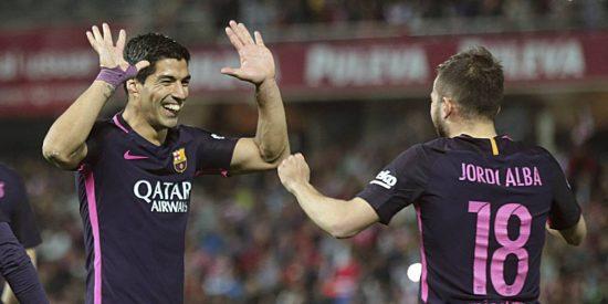 Neymar y Suárez siguen de caza: Granada CF 1 -FC Barcelona 4