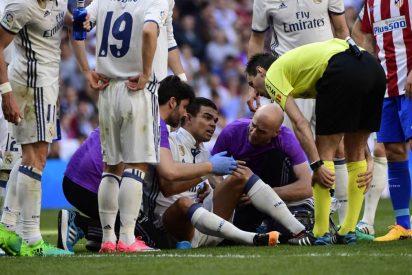 Pepe sufre la fractura de dos costillas en el derbi Real Madrid-Atleti: las izquierdas 7ª y 8ª