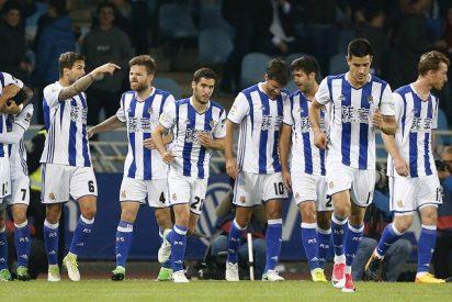 La Real Sociedad hiere de muerte al Sporting y recupera su puesto europeo