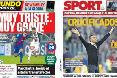 La prensa catalana abre en canal a Luis Enrique y llora por el Barça