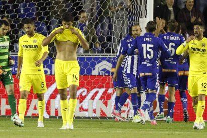 El Villarreal tropieza ante el Alavés (2-1) y se aleja del sueño de 'Champions'