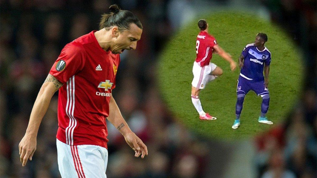 La impactante lesión que sufrió Ibrahimovic en el Old Trafford